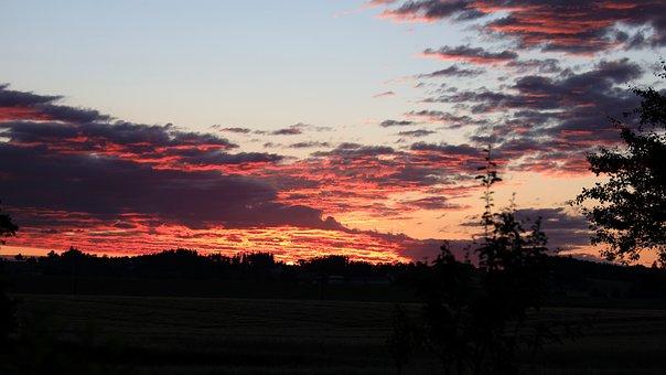 Morgenrot, Sunrise, Morgenstimmung, Skies, Morning Sun