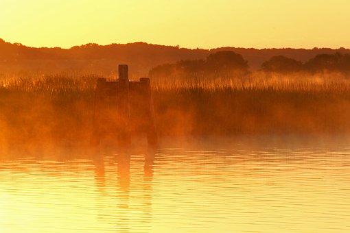 Morning Hour, Morning Mist, Fog, Sunrise, Nature