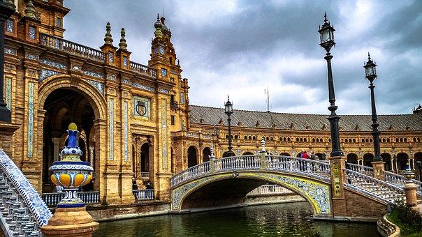 Andalucia, Sevilla, Plaza, Spanish, Seville, Spain