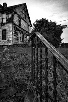 Black And White, Old House, Old, Architecture, Building