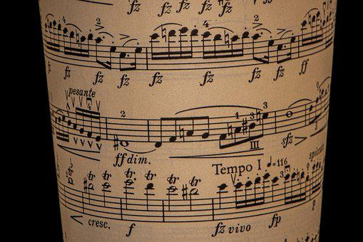 Sheet Music, 19Th Century, Cello, Beam