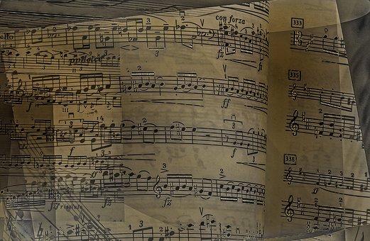 Sheet Music, 19th Century, Cello, Beam, Tonkunst