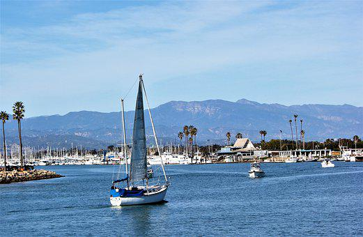 Sailboat, Channel Island, Harbor, Boat