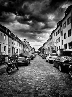 Sky, Road, Bremen, Auto, Residential Area, Clouds, Wind