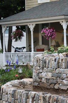 House, Rocks, Landscape, Nature, Building, Home