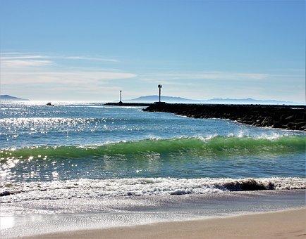 Channel Island, Oxnard, Ocean, Wave