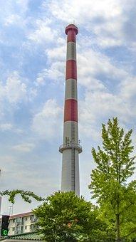Smokestack, Cloud, Environment, Pollution