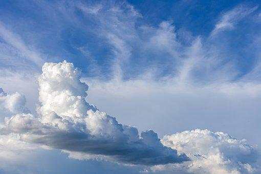 Cumulus, Clouds, Landscape, Sky, Formation, Blue, White