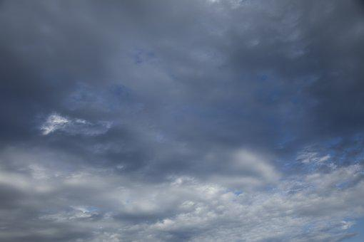 Clouds, Rainy, Storm, Blue, Background Pattern, Texture