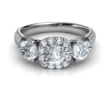 Three Diamonds Ring, Engagement Ring, Diamond Ring
