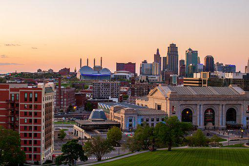 Kansas City, Skyline, Dusk, Beautiful, City, Buildings