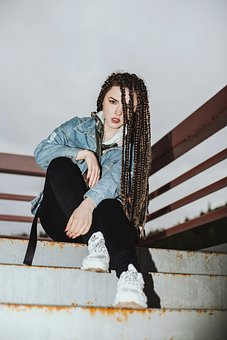 Girl, Hairstyle, Dreadlocks, Hair, Afro-locks, Sand