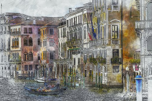 Venice, Italy, Water, Architecture, Channel, Travel