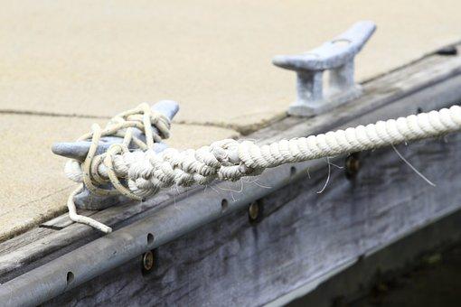 Rope, Jetty, Water, Pier, Dock, Maritime, Wood, Bollard