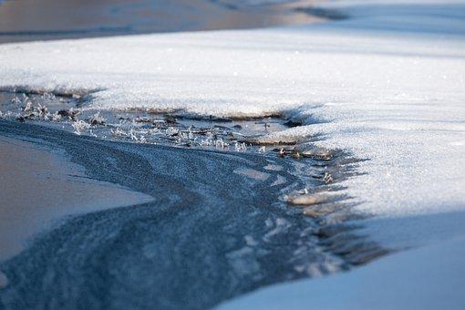 Snow, Ice, River, Lake, White, Blue, Winter, Cold