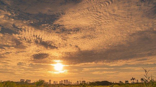 Sunset, Sunshine, Sky, Sun, Nature, Landscape, Dream