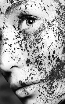Black And White, Face, Lidschatten, Eyeshadow, Makeup