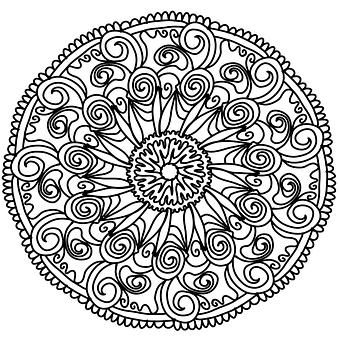 Flowers, Mandala, Hand, Drawing, Pencil, Artist