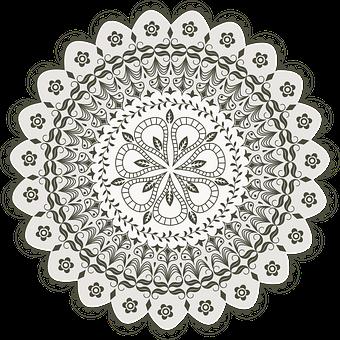 Vector, Mandala, Drawing, Decoration, Floral, Indian