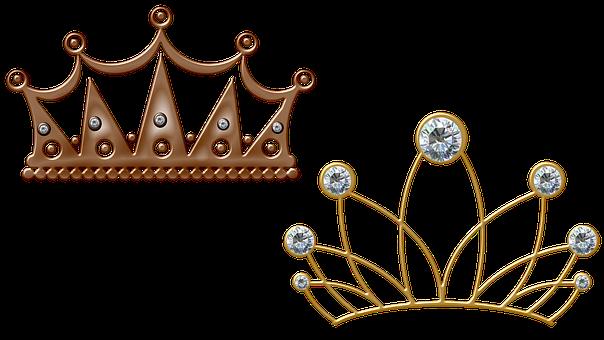Crown, Tiara, Metal, Diamonds, Gemstones