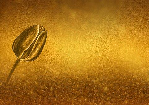 Background, Map, Gold, Tulip, Shiny, Metallic
