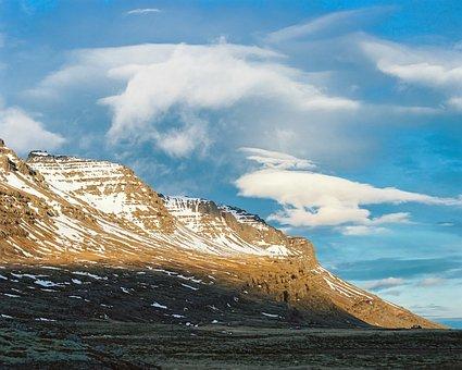 Mountain, Landscape, Sky, Nature, Blue, Snow, Sea
