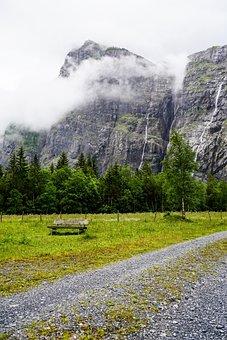 Switzerland, Hiking, The Gastern Valley, Mountains