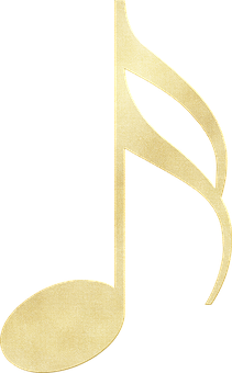 Gold Foil Music Note, Music, Note, Notes, Song, Musical