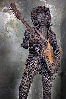 Jim Hendrix, Guitar, Guitarist, Rock And Roll, Nail