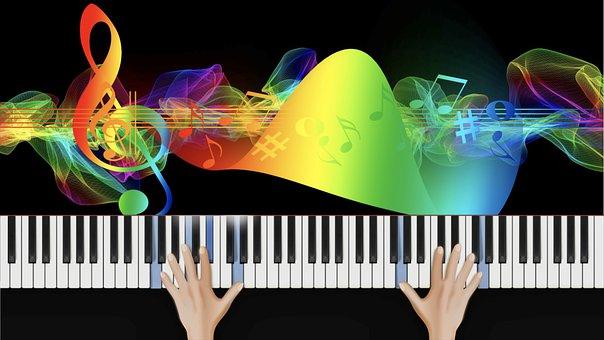 Piano Keyboard, Piano, Piano Keys, Music, Clef