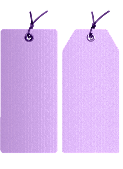 Tags, Labels, French Handwriting, Lavender, Lilac, Sale