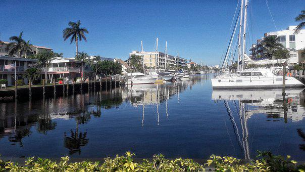 Florida, Fort Lauderdale, Yachts, Channel, Luxury, Sea