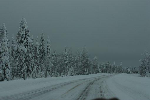 Landscape, Nature, Sky, Grey, White, Snow, Winter