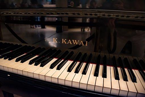 Piano, Black And White, Music Keys, Keyboard, Sound