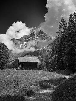 Adelboden, Switzerland, Alpine, Mountains, Sky, Summer