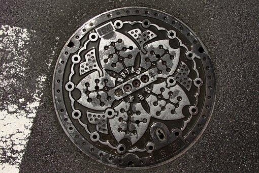 Manhole Cover, Road, Tokyo, Gullideckel
