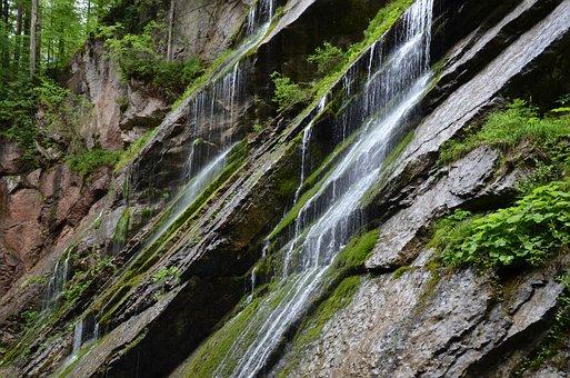 Wimbachklamm, Berchtesgaden, Waterfall, Clammy, Water