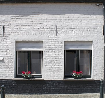 White, Brick, House, Facade, Wall, Building, Texture