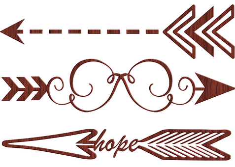 Decorative Arrows, Art Deco, Arrow, Word Art, Colorful