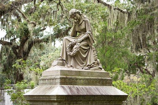 Savannah, Graveyard, Cemetery, Bonaventure, Angel