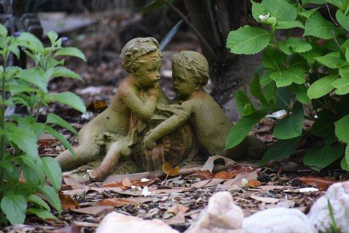 Angel, Statues, Sculpture, Figure, Stone, Fountain