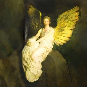 Woman, Fallen Angel, Smoking, Wings, Artwork, Religious