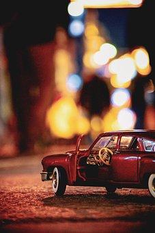 Car, Toy, Night, Vehicle, Auto