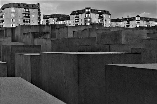 Berlin, Holocaust, Memorial, Concrete, Germany, History