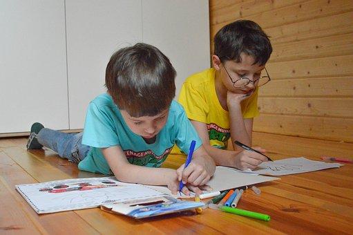 Coloring, Draw, Felt Tip Pens, Kids, Boys, Self-study