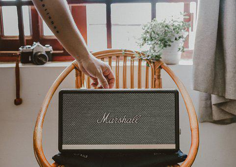 Speaker, Marshall, Chair, Home, Sound, Equipment