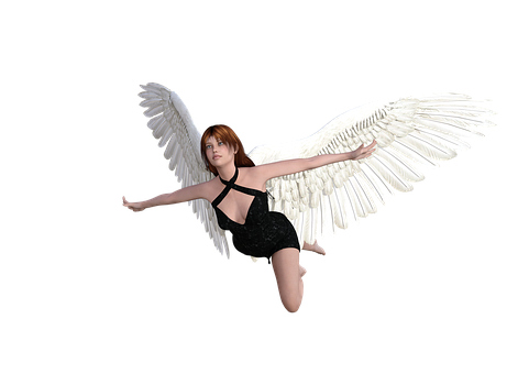 Angel, Character, Flying, Transparent