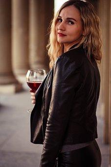 Woman, Girl, Model, Wine, Street, City, Hair, Angel