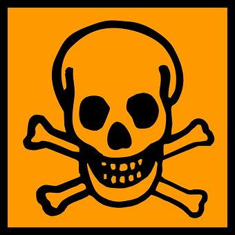 Deadly, Fatal, Death's Skull, Crossbones, Death, Poison