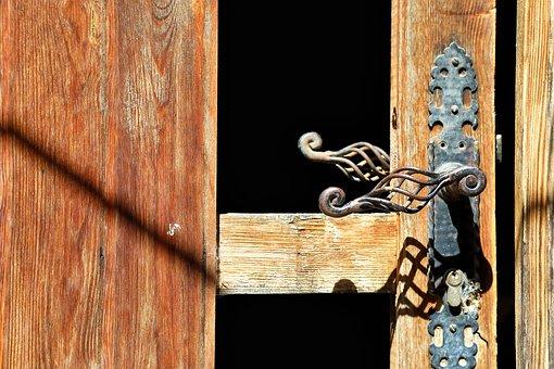 Hand, Passepartout, Forging, Door, Framework, Wood